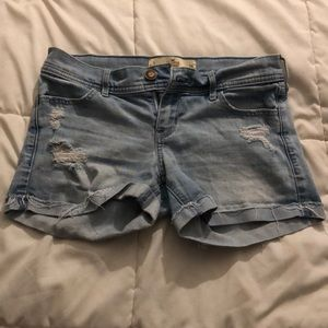Hollister Size 3 Distressed Shorts